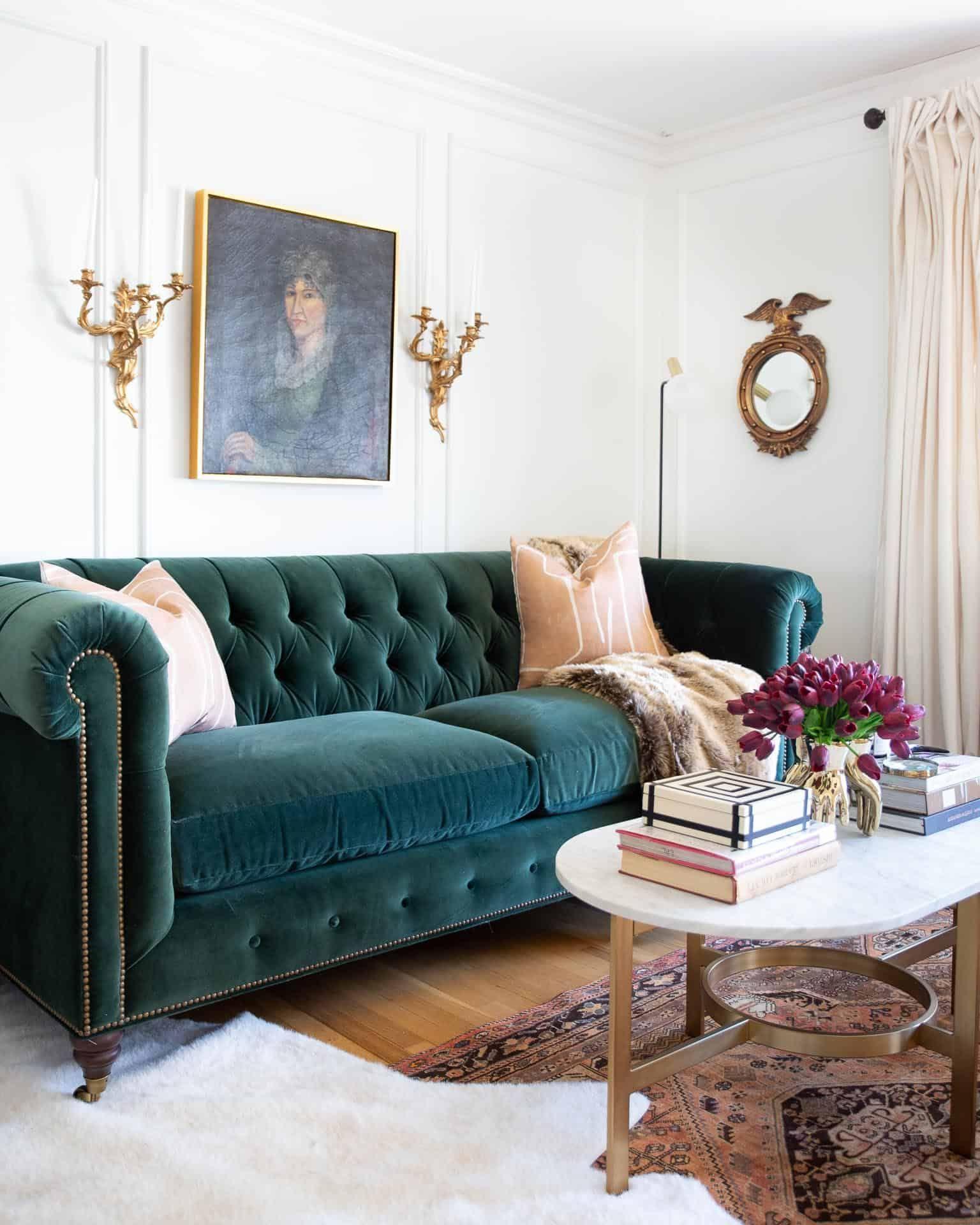Vorher & Nachher: Ein klassischer Glamour Living Room Reveal – bingefashion.com/dekor