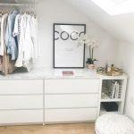 Walk in Kleiderschrank / Schrank DIY IKEA Malm Kallax Hack mit Marmorplatte,  #k...