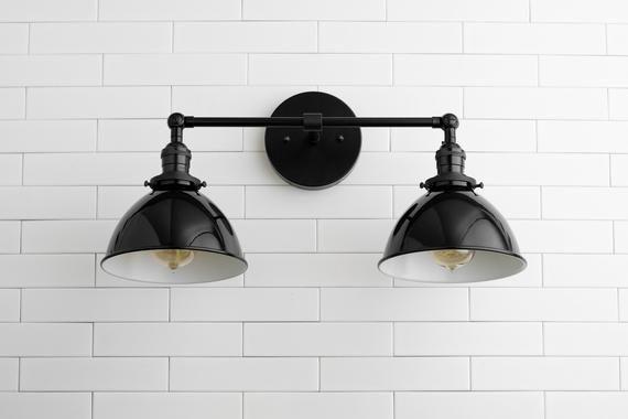 Wall Lights – Bathroom Lighting – Vanity Light – Industrial Light – Black Vanity Light – Black Lighting – Lighting – Farmhouse Light