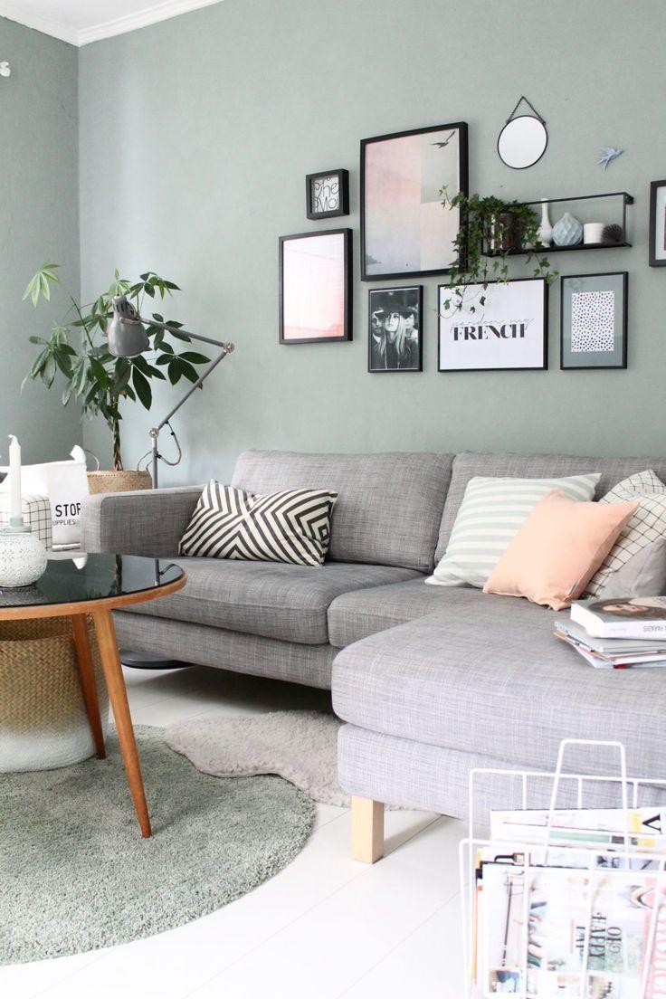 Wandfarbe Wohnzimmer Blau Grau Wandfarbe Wohnzimmer Graue Couch Trendige Wandfar…
