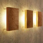 Wandleuchte aus Holz - modern und einzigartig