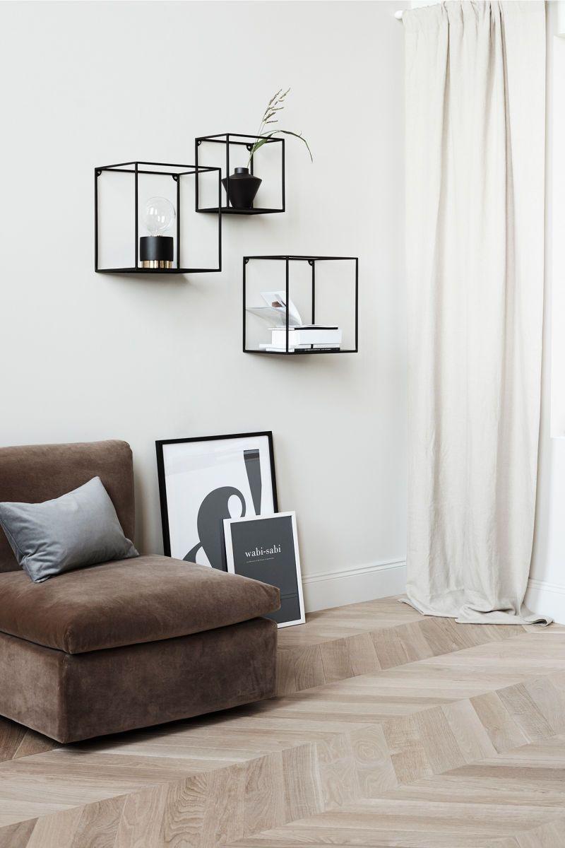 Wandregal aus Metall – Schwarz – Home All | H&M DE