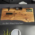 Waschtisch aus Holz | Badezimmer-Inspiration - https://bingefashion.com/haus