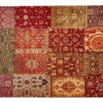 Webteppich - mehrfarbig - Synthethische Fasern, 34% Baumwolle, 33% Pol
