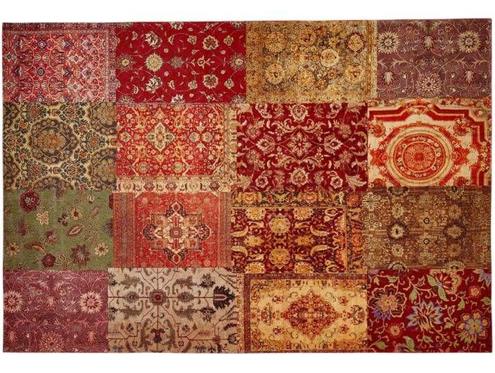 Webteppich – mehrfarbig – Synthethische Fasern, 34% Baumwolle, 33% Pol