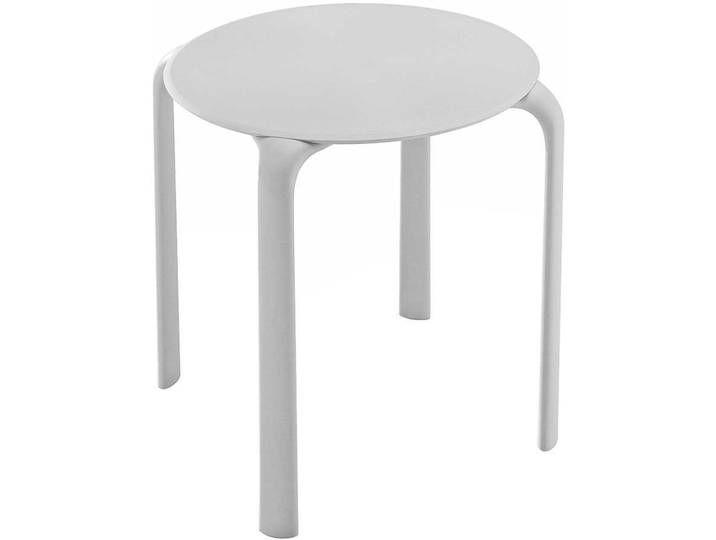 Weißer Esstisch runde Tischform Outdoor geeignet