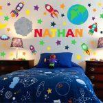 Weltraum Wandkunst – Raum Wandtattoos – Boy Room Wandkunst – Kinderzimmer Wandkunst – Kinder Wandtattoos – Kinderzimmer Wandtattoo – Name Wandtattoo - myoyun.org/deko