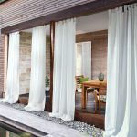 White curtains for the garden | Opaque outdoor curtains   - Haus einrichten