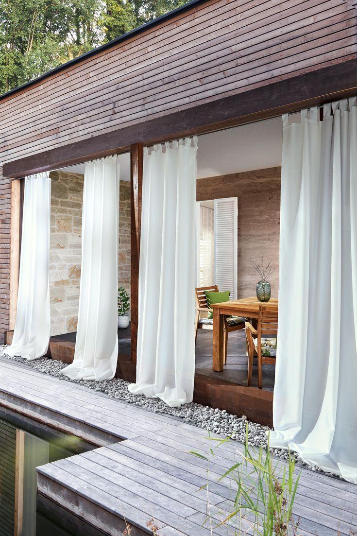 White curtains for the garden | Opaque outdoor curtains   – Haus einrichten