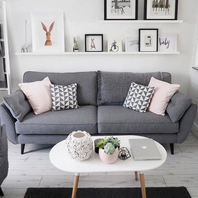 Wohnzimmer Dekor graues Sofa – #Dekor #graues #livingroom #Sofa #Wohnzimmer