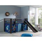 Zoomie Kids Escalera European Single Mid Sleeper Bed with Curtain | Wayfair.co.uk