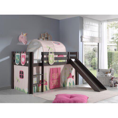 Zoomie Kids Ethridge European Single Mid Sleeper Bed with Textil Set   Wayfair.co.uk