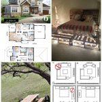Zwei Master-Suiten Handwerker Hausplan, 4 Schlafzimmer, 4 Bäder, Home Office, S...