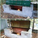 #anweisung #block #cinder #grill #hinterhof #rotisser
