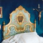 beautiful painted bed by Monique De Tezanos Pinto