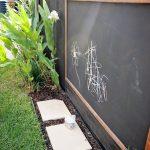 black-chawkboard-placed-outside-for-children-fun- Contemporary Outdoor Garden Id… - worldefashion.com/decor
