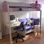 bunk beds with couch and desk - Idea for under aris loft bed