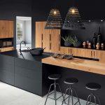 cuisine noire et vrai bois