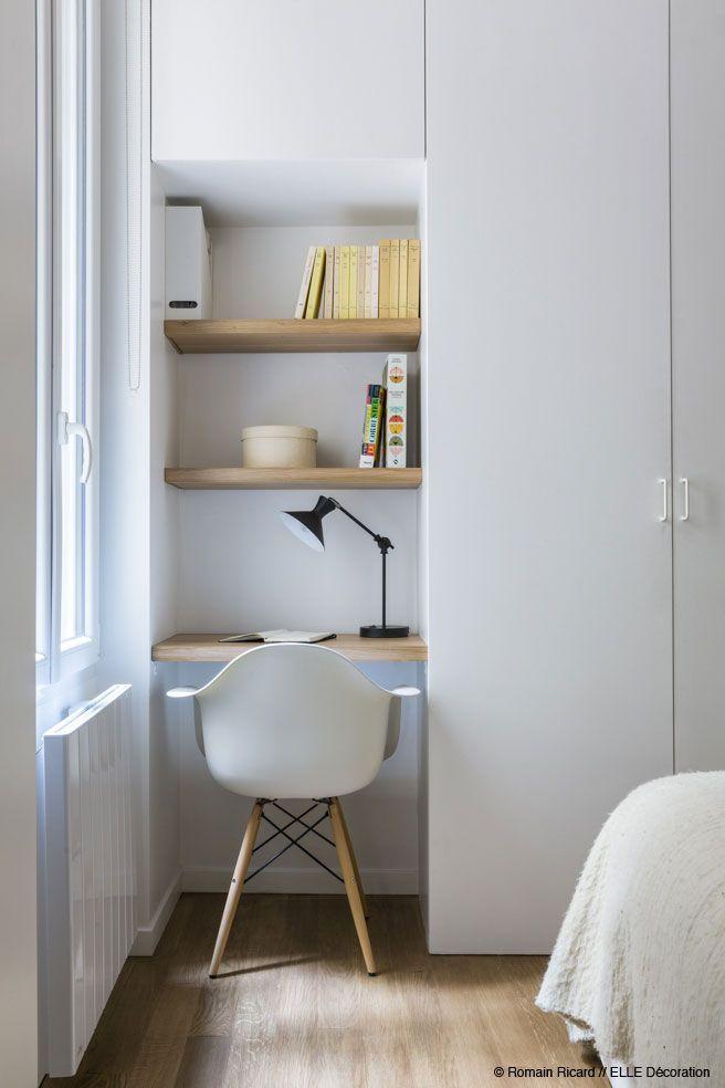 #desk #office #bureau Un mini espace bureau optimisé, comme un hôtel APPARTEME… – worldefashion.com/hem