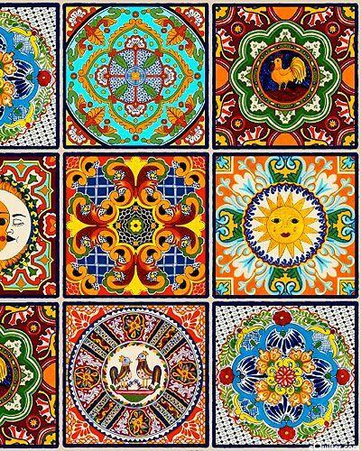 "eQuilter Fiesta – Mexikanische Sonnenfliese – Multi – 24 ""x 44"" PANEL  #equilter…"