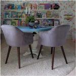 french furniture #furniture Primrose Lehnstuhl, Samt Gepolstert, Dunkelpink Stuh...
