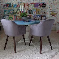 french furniture #furniture Primrose Lehnstuhl, Samt Gepolstert, Dunkelpink Stuh…