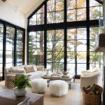 große Fenster // hell und luftig // Wohnzimmer // offenes Konzept // Fensterwan ... - Wood Design