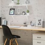 home office vignette with a minimalist style and Scandinavian accents. - Home Decor Art