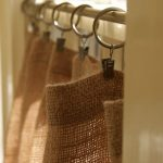 natural burlap cafe curtains country farmhouse home decor /kitchen drapes/ rod pocket panels valance