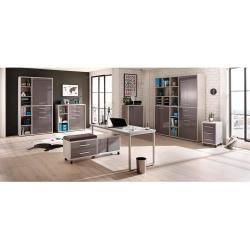 office cabinets –  Maja furniture set + office cabinet 117,3x40x216,4cm platinum…