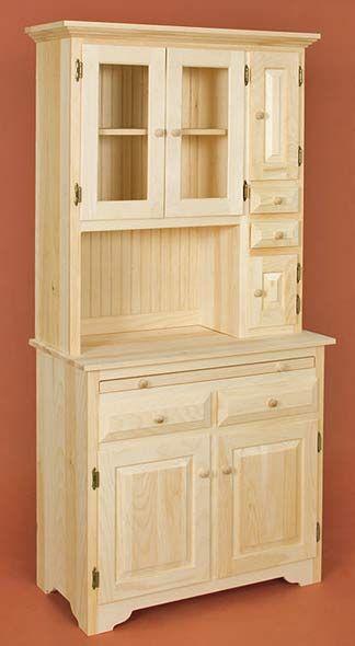 open bottom hutches   Has One Shelf inside bottom Cabinet