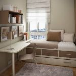 petite pépinière chambre conception lit lits box-bureau-beige-brun - https://pickndecor.com/fr