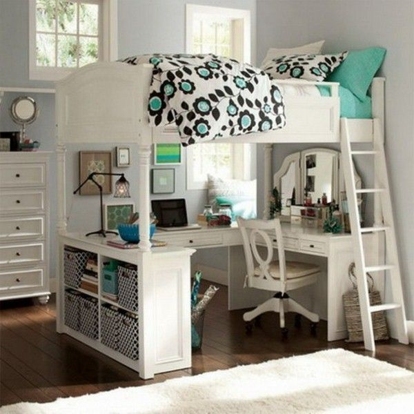 teen loft beds bed desk for teens bunk with ideas the tiny life #BeddingIdeasFor…