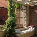 terrasse balkon-sichtschutz metall-gitter stütze für kletternde planzen #balko...