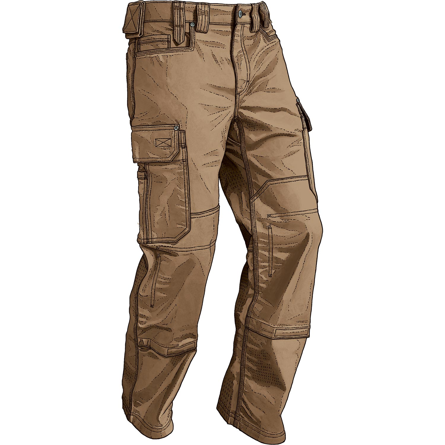 ... duluthflex ultimate cargo pants. brown oonknmd