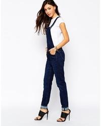 ... lee jeans salopette selvage worn denim dungarees ... mbcbnst