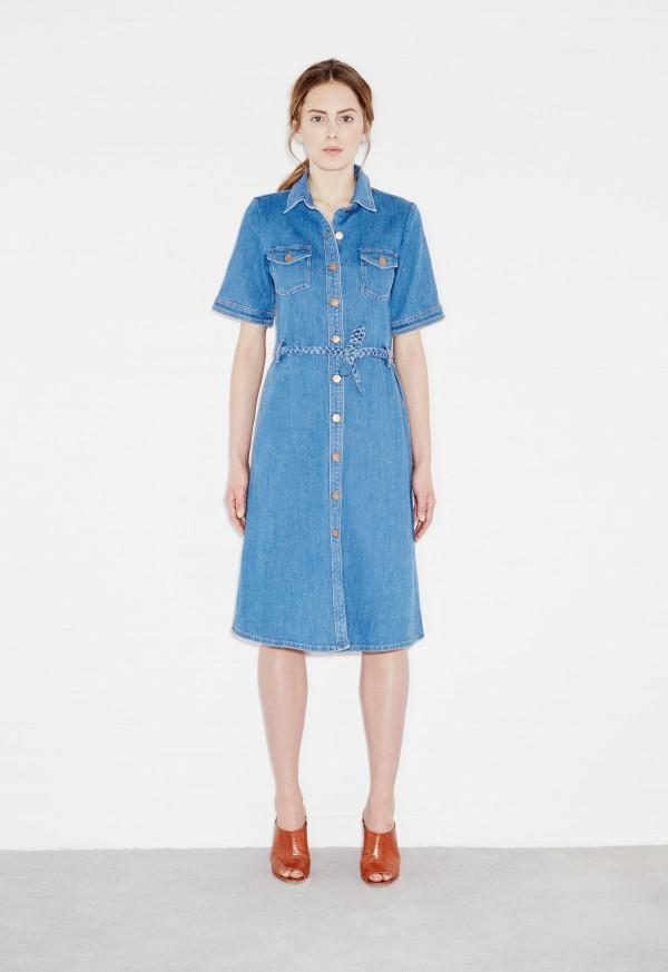 ... m.i.h 70s denim dress - 79 blue kldpqte