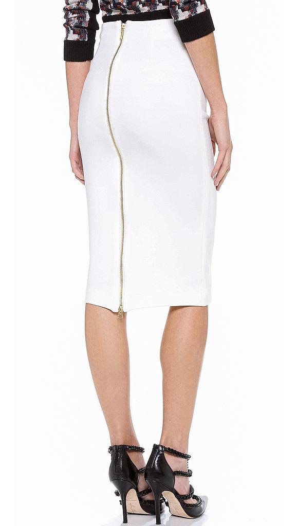 5th u0026 mercer white pencil skirt with zipper kafvwpo