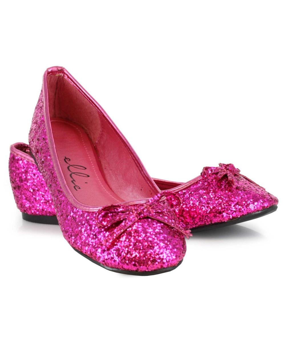 adult pink fuschia glitter flats - costume shoes kbwhybv