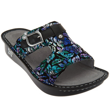 alegria shoes alegria leather adjustable slide sandals - peggy bnqpcri