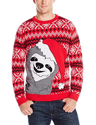 alex stevens menu0027s slothy christmas ugly christmas sweater at amazon menu0027s  clothing qtvwurz