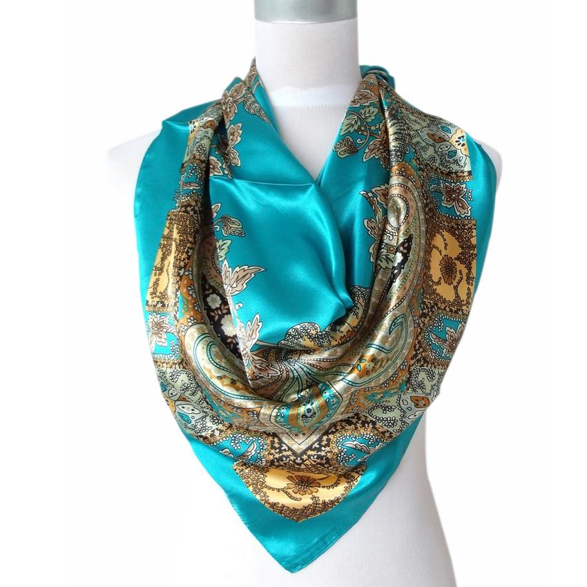 aliexpress.com : buy 2017 hot sale satin square silk scarf printed for ruvepvs