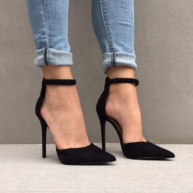 ankle strap heels find this pin and more on to strut with by emily543543. black heels gulqoui