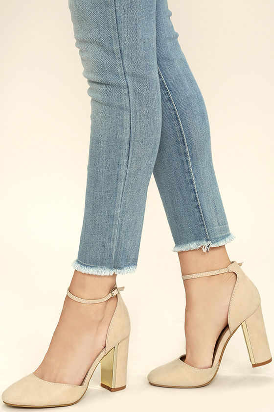 laura nude suede ankle strap heels 1 fhieogq