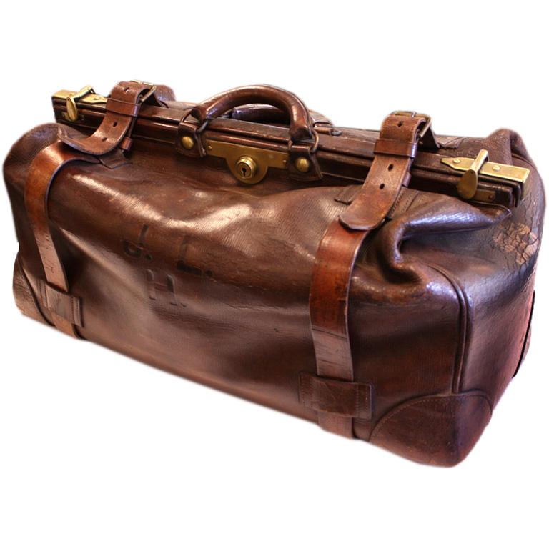 antique english leather gladstone bag hlatmbb