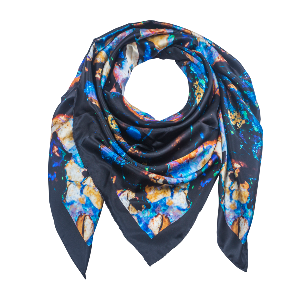 apus 2 - silk scarf - celestial collections dmthrsk
