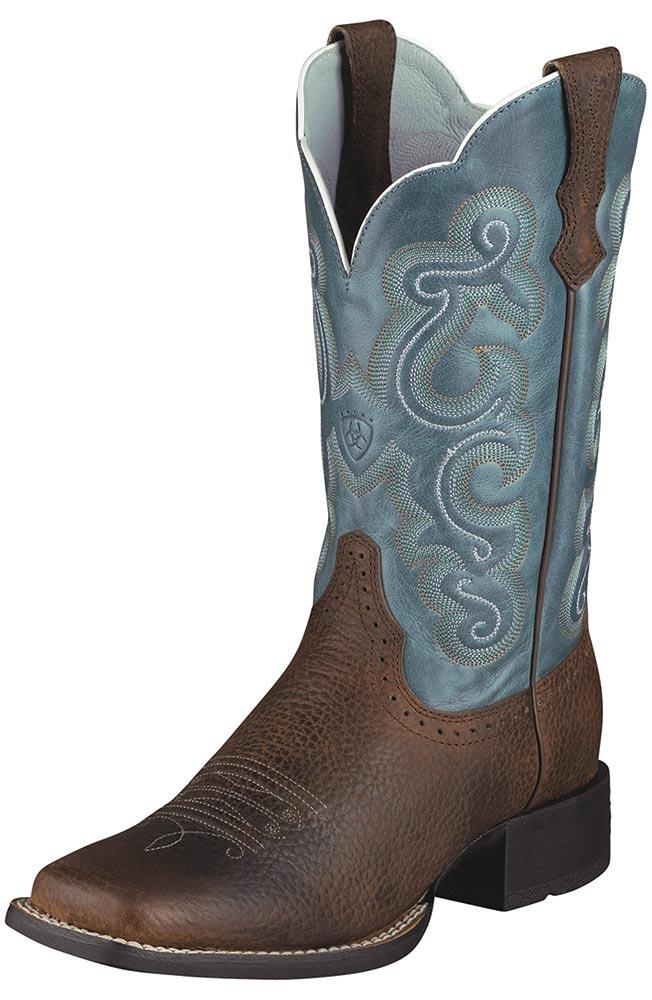 ariat boots women ariat® womenu0027s quickdraw performance cowboy boots - brown / sapphire blue gsybora