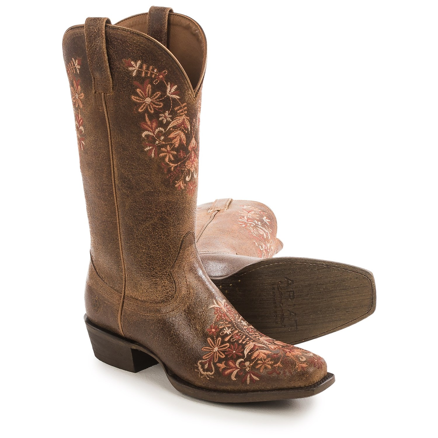 ariat boots women ariat ardent cowboy boots - leather, embroidered details, square toe (for  women) huixrnx
