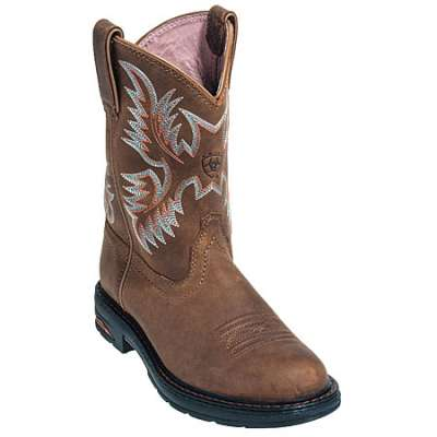 ariat boots women ariat boots: womenu0027s 10008628 brown tracey pull on work boot athzycg