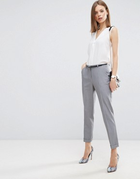 asos the slim tailored cigarette trousers with belt glhikbr
